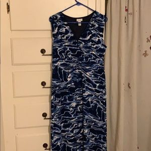 A blue fun dress to wear up or down!